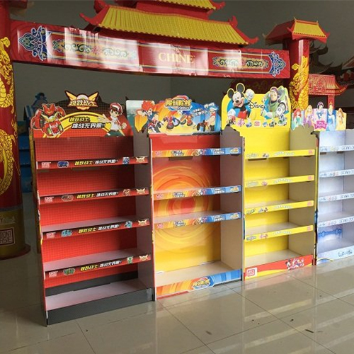 custom made paper display shelves for toys