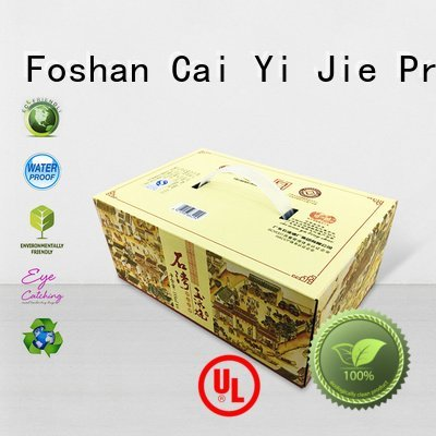 corrugated cardboard boxes cardboard packaging CAI YI JIE Brand