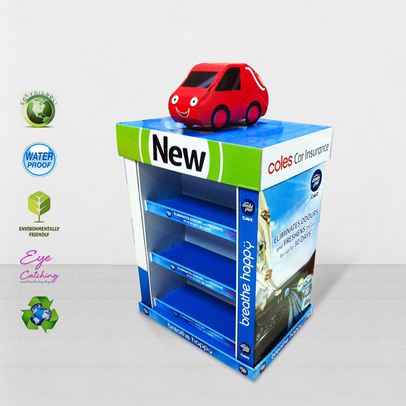 Mobile Square Cardboard Display Stands For Advertising