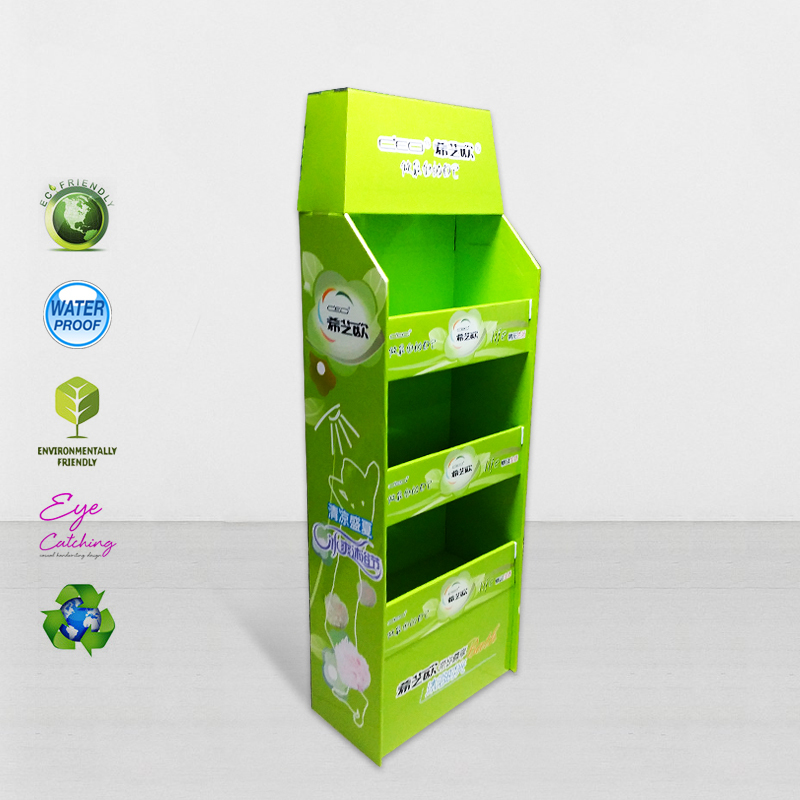Cardboard Pos Display Stands For Promoting Sales
