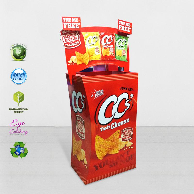 Easy Set Up Cardboard Merchandising Displays For Cheese