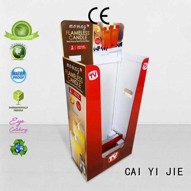 CAI YI JIE Brand printing cardboard dumpbin manufacture
