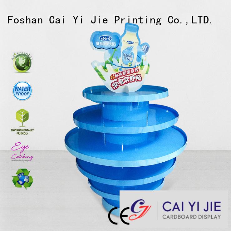 cardboard pallet display sales display pallet display CAI YI JIE Warranty