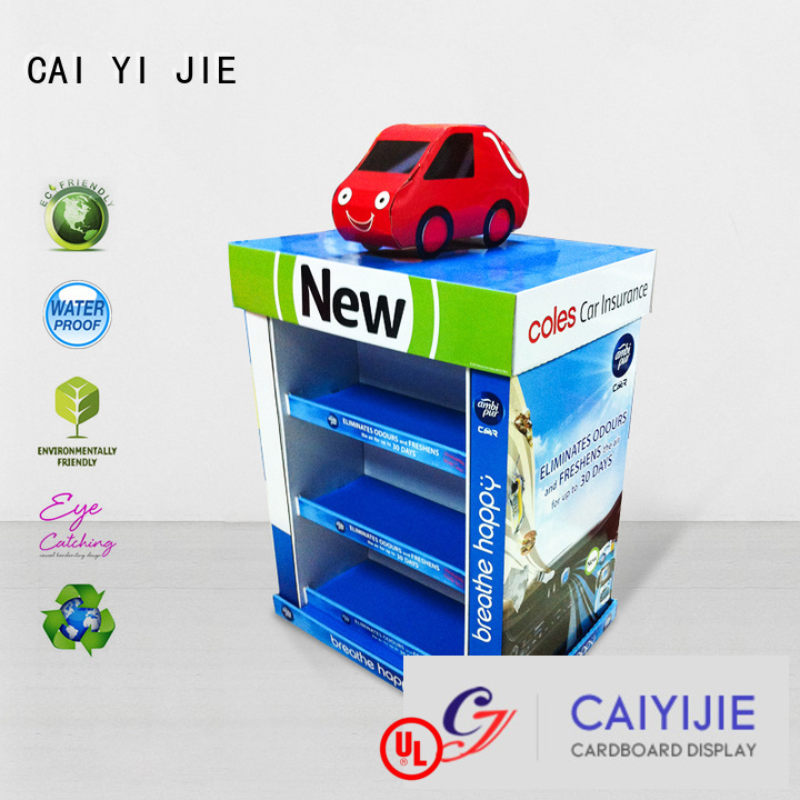 Hot cardboard pallet display easy stores plastic CAI YI JIE Brand