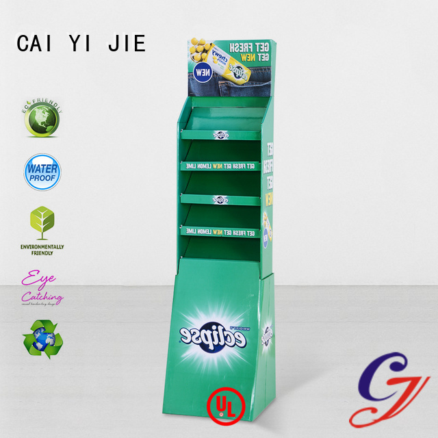 Custom cardboard stand printing cardboard retai CAI YI JIE