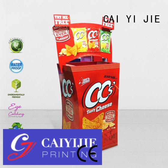 CAI YI JIE Brand commodities color cardboard dump bins for retail cardboard cheese