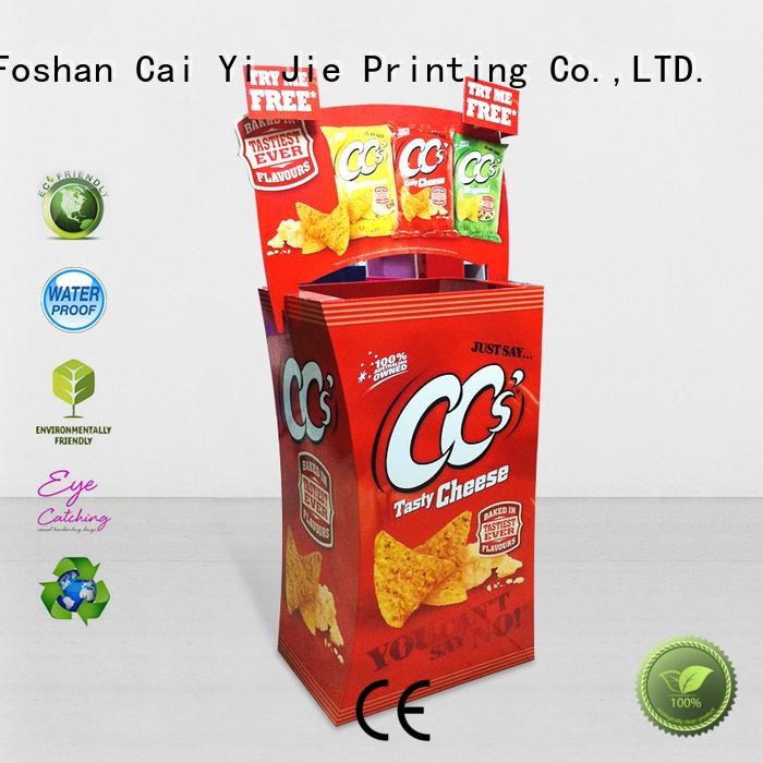 cardboard dump bins for retail daily cardboard merchandising Warranty CAI YI JIE