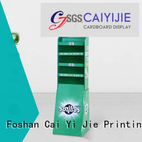 Artworkrequired Supplyability cardboard greeting card display stand CAI YI JIE