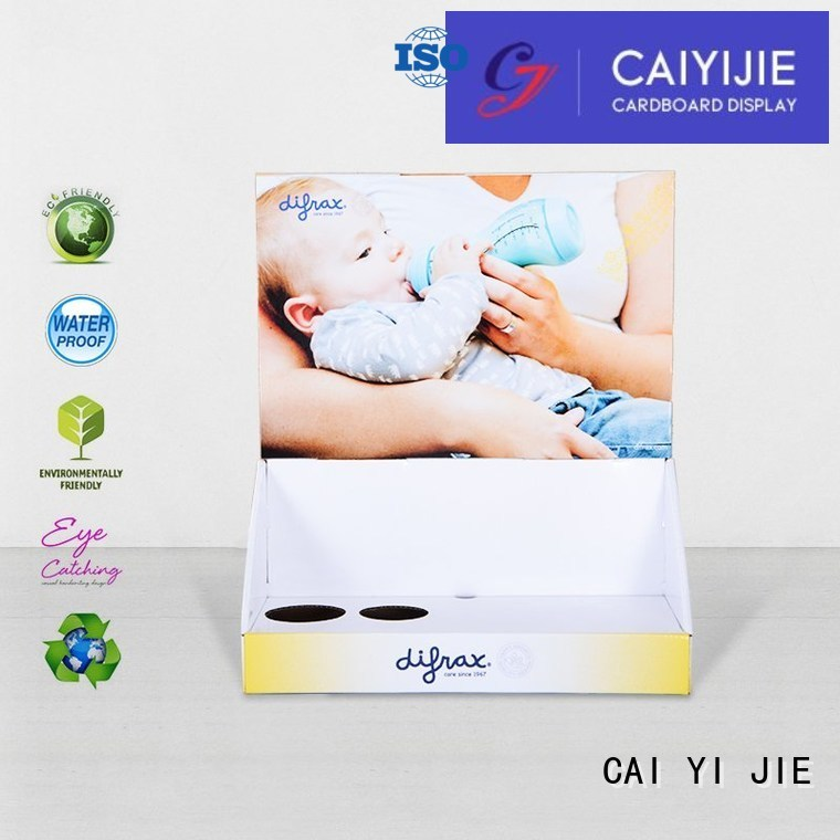 Wholesale stands cardboard display boxes CAI YI JIE Brand