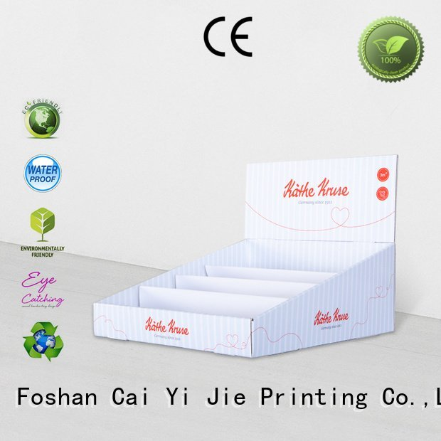 custom cardboard counter displays sale cardboard display boxes CAI YI JIE