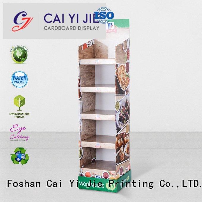 space stiand cardboard greeting card display stand CAI YI JIE
