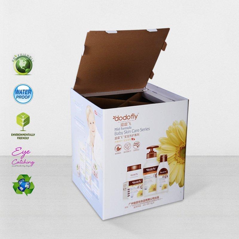 Cardboard Dumpbin Floor Standing For Daily Commodities