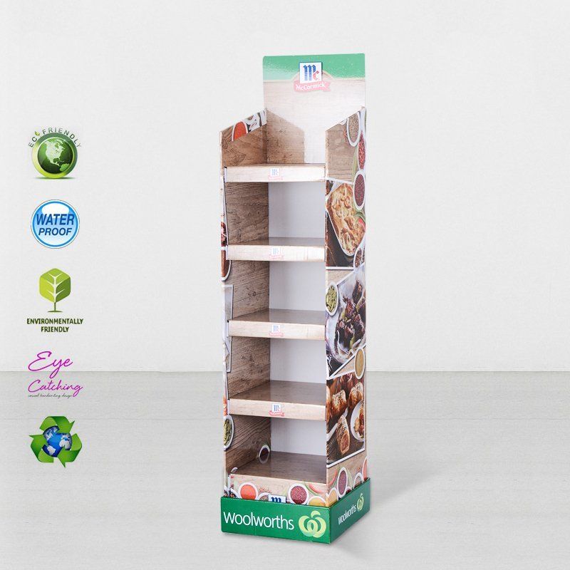 Printed Cardboard Retail Display Stand With Plastic Clip