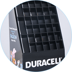 Stair Step Cardboard Retail Display Stand part