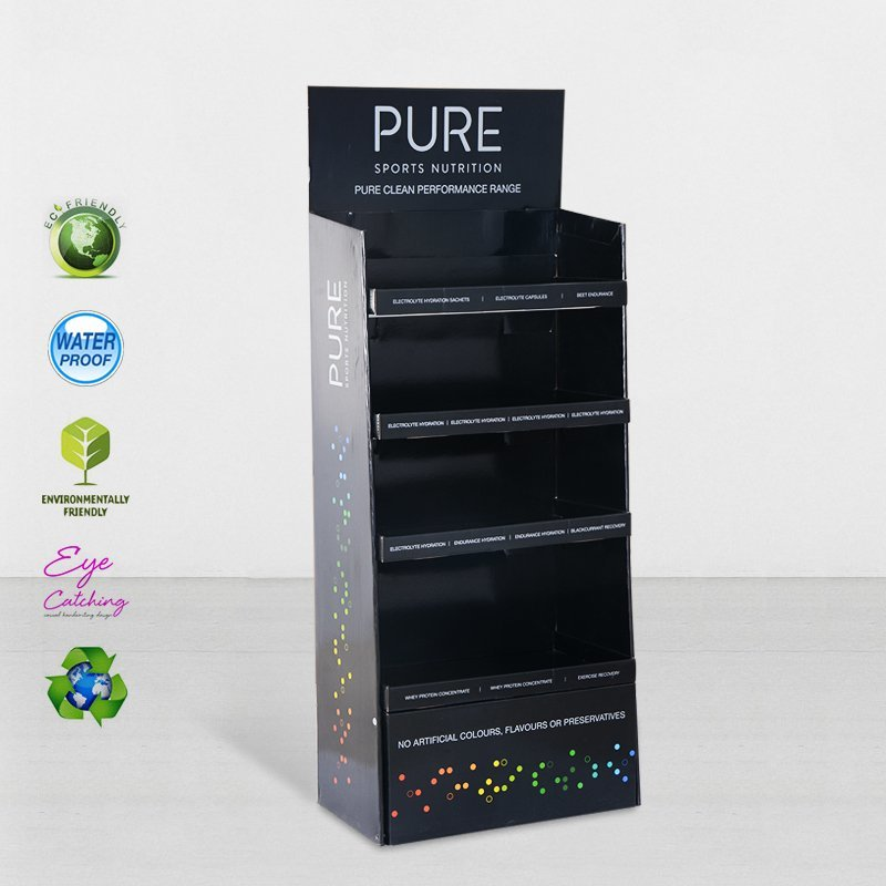 Cardboard Retail Display Stands With Stainless Tube