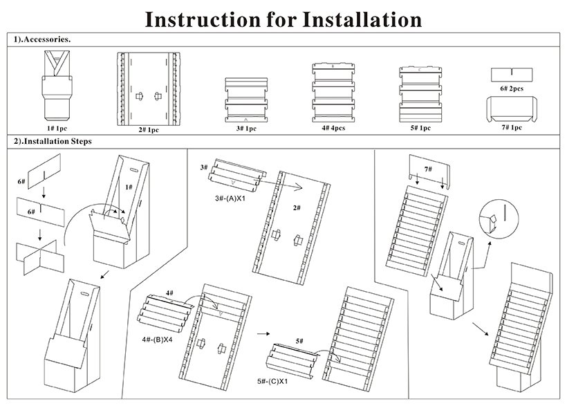 Cardboard Floor Display Stands installion