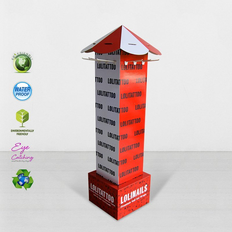 Full Color Printing Cardboard Display Stands For Supermarket