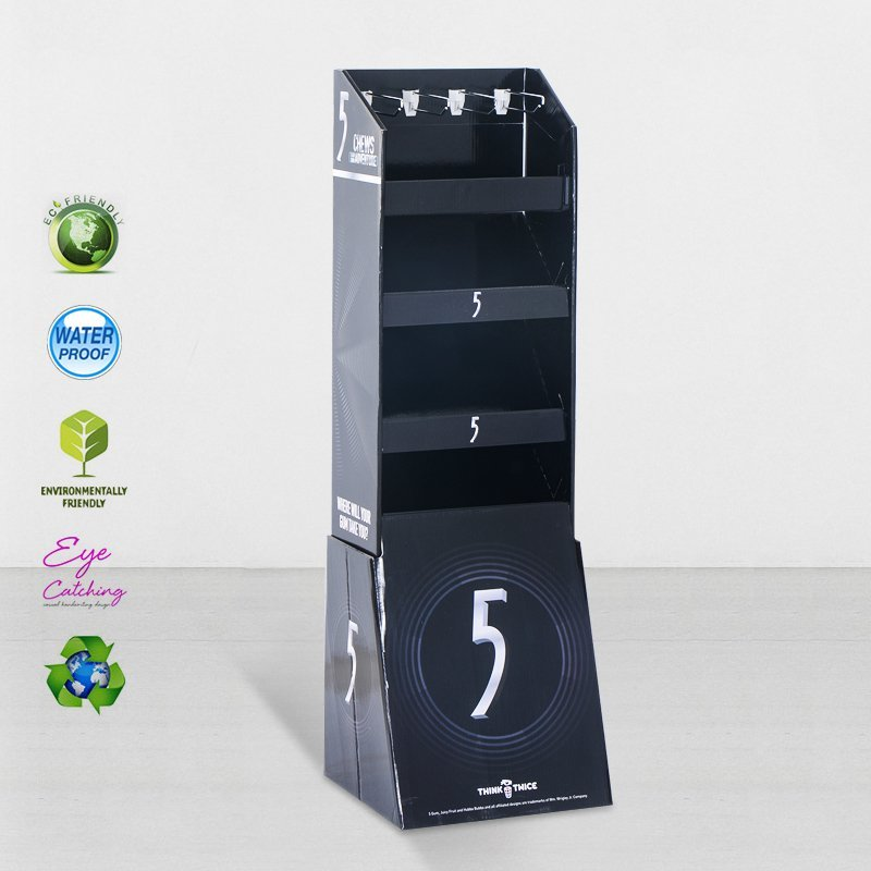 Stair Step Cardboard Display Stands For Marketing Sale