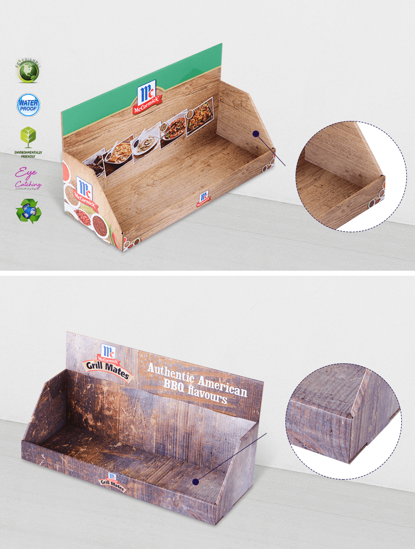 Cardboard Counter Display Stands For Marketing Products Sale