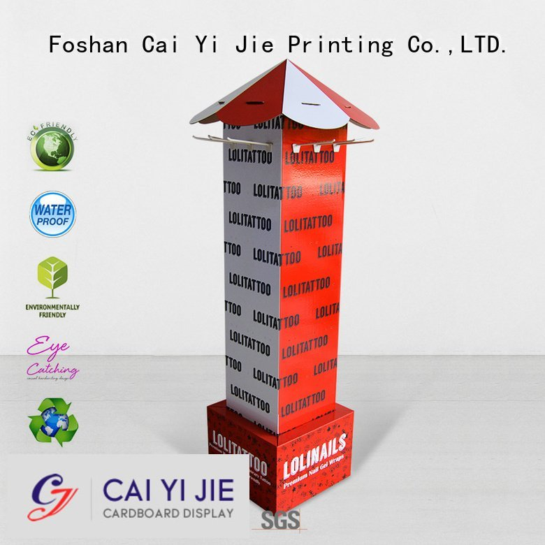 CAI YI JIE color supermarket full counter hook display stand marketing
