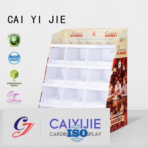 cardboard greeting card display stand stair fashion cardboard stand CAI YI JIE Brand