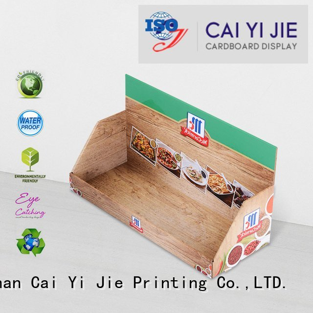 custom cardboard counter displays units display counter countertop CAI YI JIE