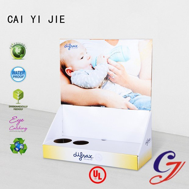 marketing promotional counter grocery CAI YI JIE cardboard display boxes