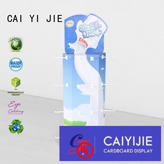 plastic display power wing display corrugated stand CAI YI JIE company