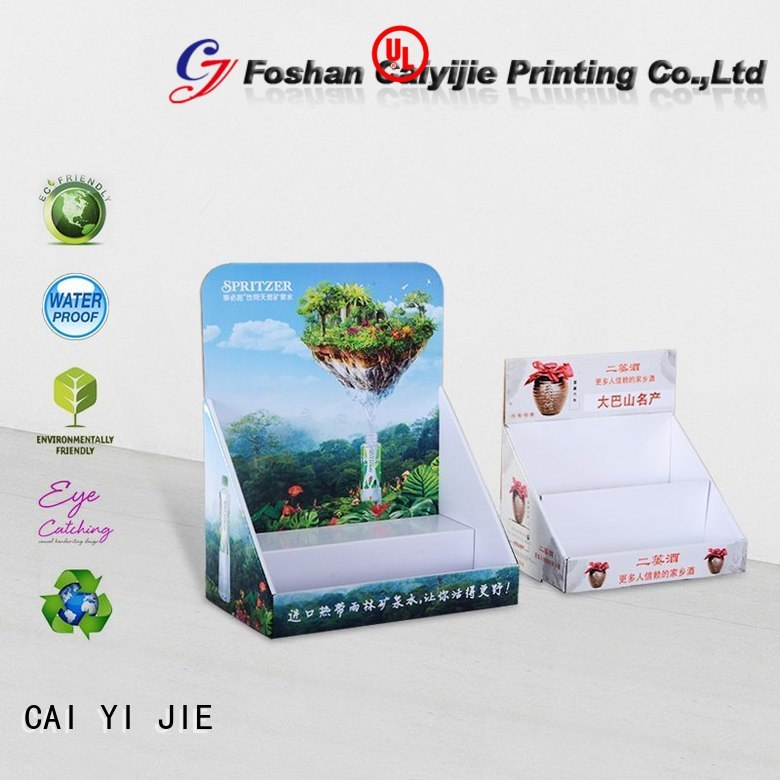 units countertop CAI YI JIE Brand custom cardboard counter displays