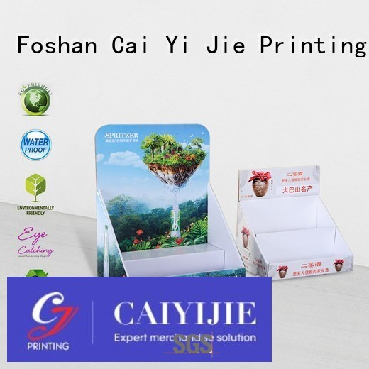 custom cardboard counter displays countertop retail CAI YI JIE Brand cardboard display boxes