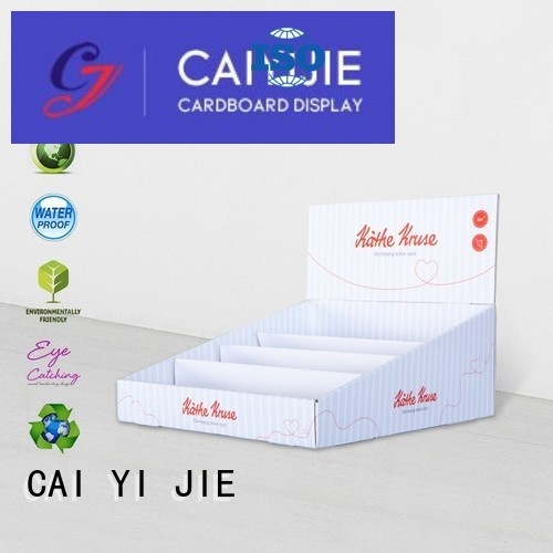 supermarkets boxes custom cardboard counter displays CAI YI JIE manufacture