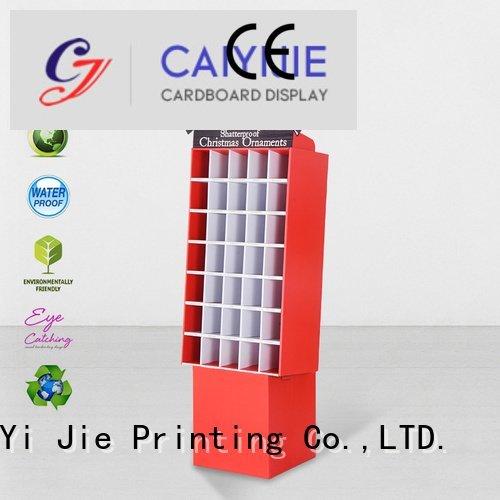 CAI YI JIE Brand color fashion cardboard stand printing uv