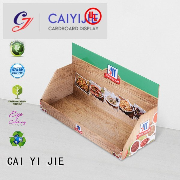 CAI YI JIE sale cardboard display boxes promotional supermarkets