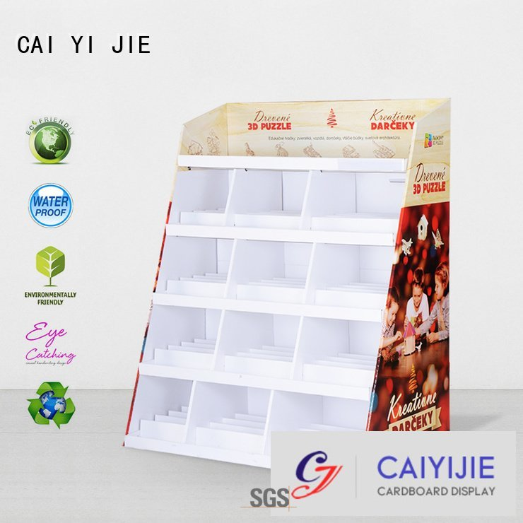 promotional sale point step CAI YI JIE cardboard stand