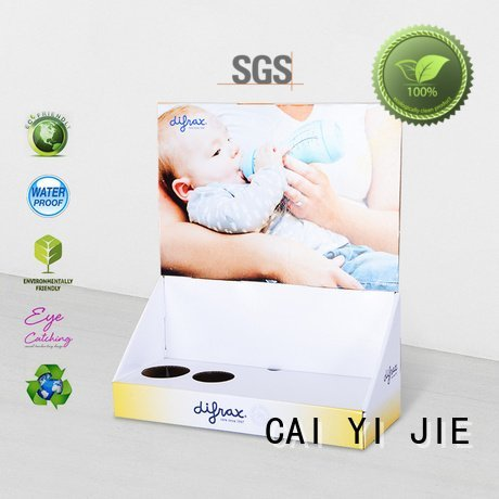 CAI YI JIE stores products marketing custom cardboard counter displays stands