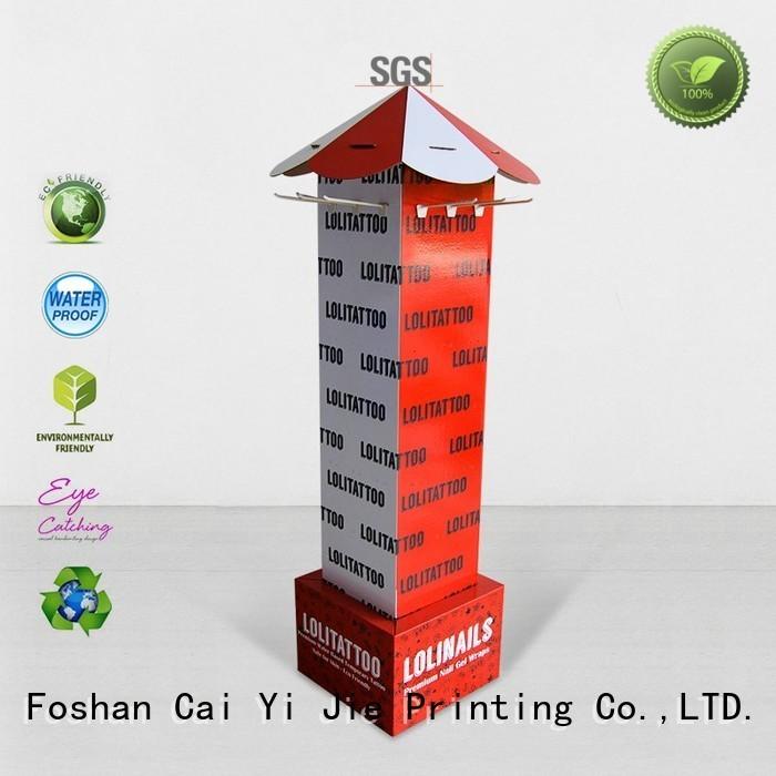 Quality CAI YI JIE Brand marketing advertising hook display stand