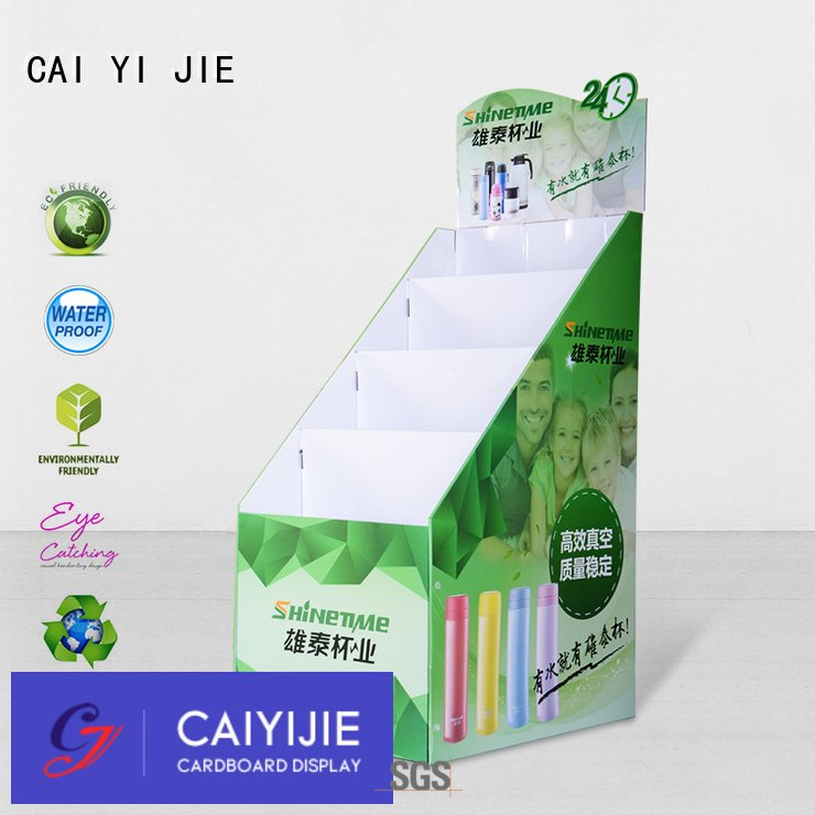 Best cardboard floor display stands for retail stores product sale cai yi jie brand pop stand display cardboard greeting card display stand m4hsunfo