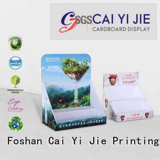 printed promotional cardboard display boxes marketing CAI YI JIE