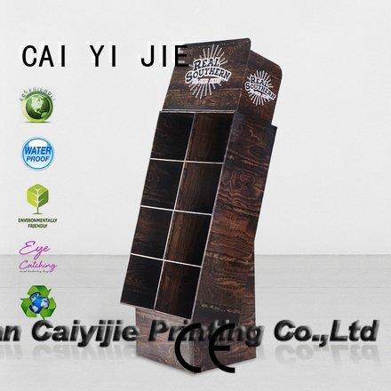 Hot cardboard greeting card display stand stands cardboard stand super CAI YI JIE
