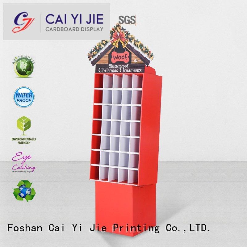 cardboard greeting card display stand promotional cardboard stand CAI YI JIE Brand