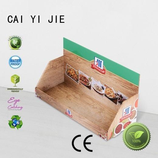 Wholesale units cardboard display boxes CAI YI JIE Brand