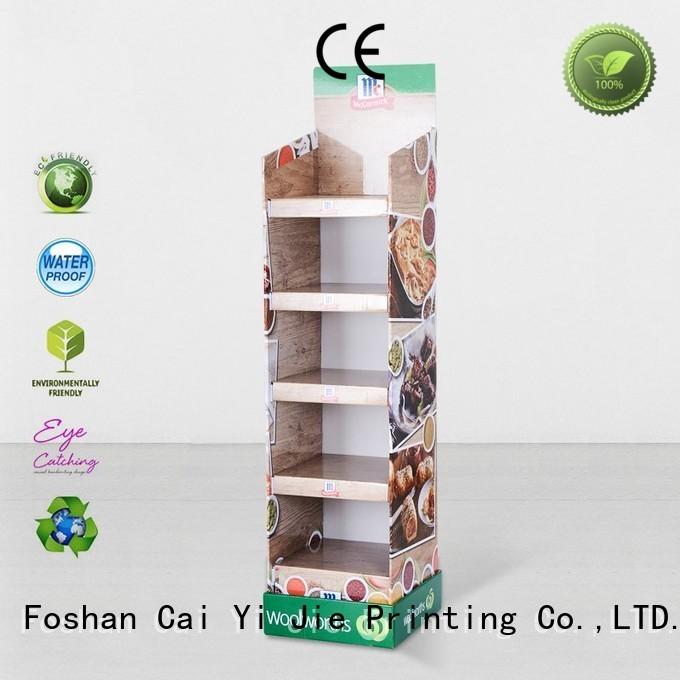 CAI YI JIE Brand chain large cardboard greeting card display stand plastic
