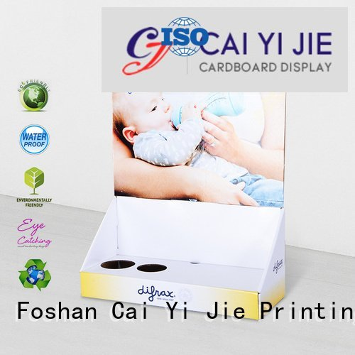 sale stores countertop marketing CAI YI JIE custom cardboard counter displays