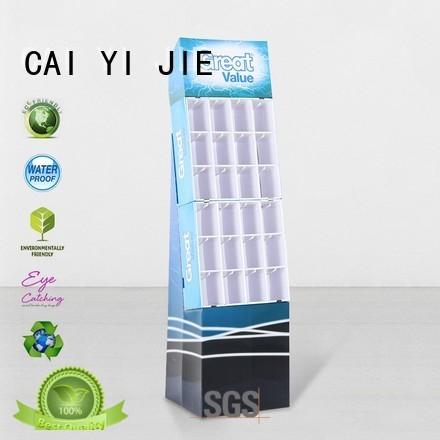 stair advertising hook display stand step CAI YI JIE