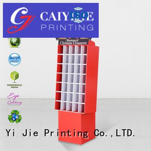 Custom promotional cardboard stand printed cardboard greeting card display stand