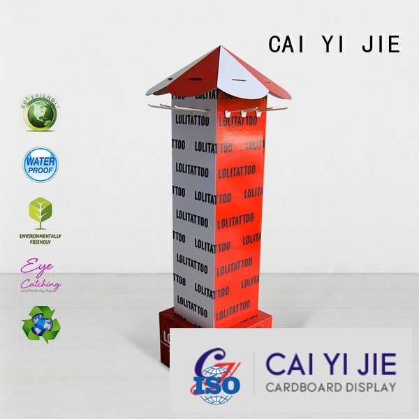 CAI YI JIE sale display step counter hook display stand stair
