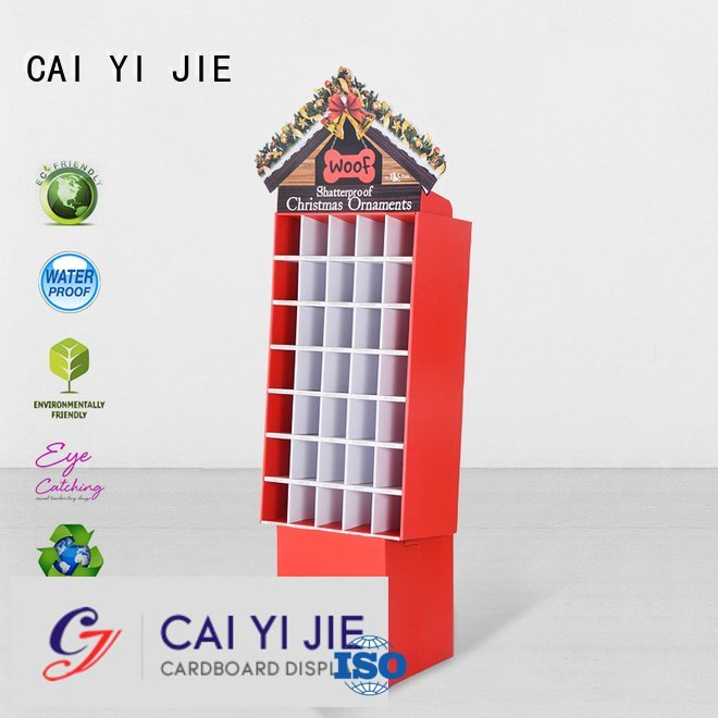 large plastic stand clip CAI YI JIE cardboard greeting card display stand