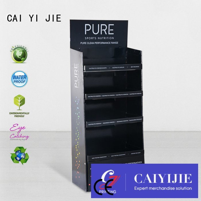 CAI YI JIE Brand stiand products stainless cardboard greeting card display stand