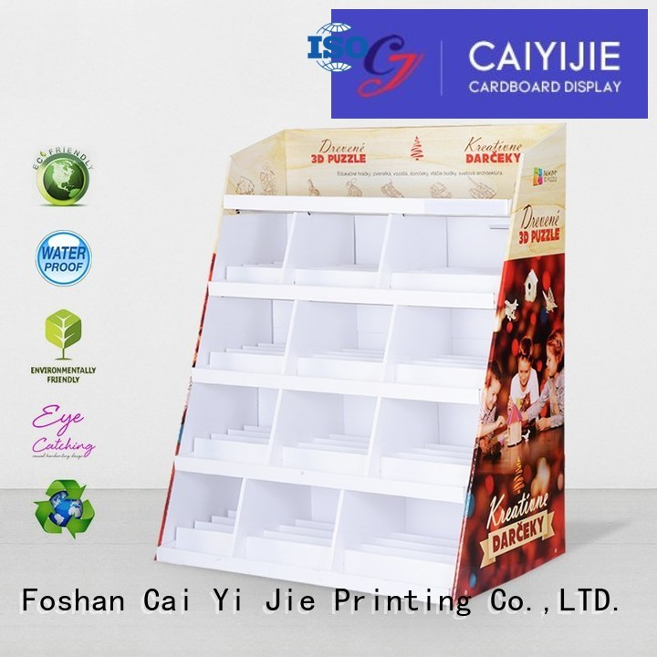 products uv cardboard cardboard greeting card display stand CAI YI JIE manufacture