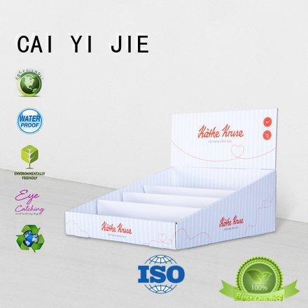 chain boxes custom cardboard counter displays CAI YI JIE